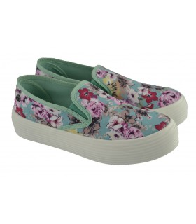 Slip on Floral colores  MUSTANG