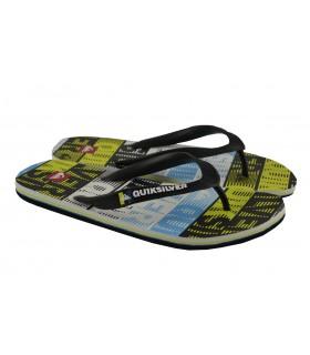 Flip flops rayas letras QUIKSILVER - Amarillo