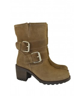 Botas moteras serraje y hebillas VIENTY