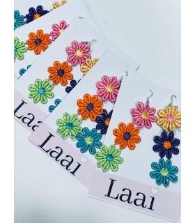 Pendientes flores LAAI Boho chic