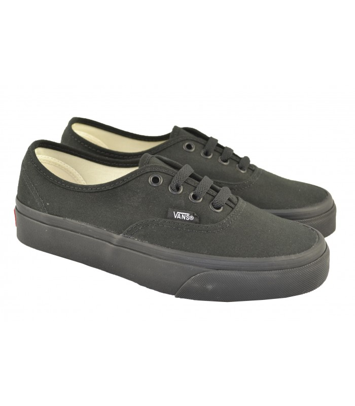 Canvas Authentic monochrome negro VANS