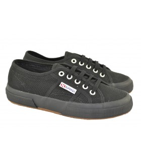 Canvas planas black monocrome SUPERGA