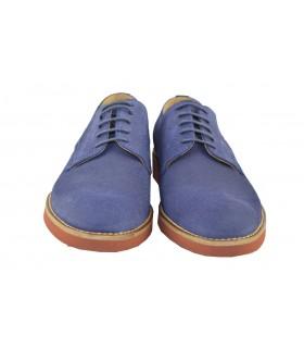 Zapatos cordones serraje ulises YOKUS - Marino