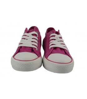 Zapatillas deportivas lona lavada colors GINGI - Fucsia