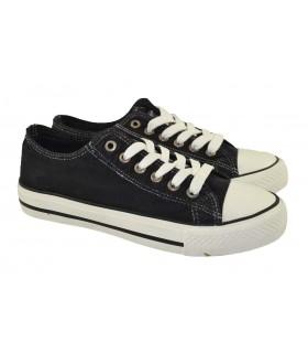 Zapatillas deportivas lona lavada colors GINGI - Negro