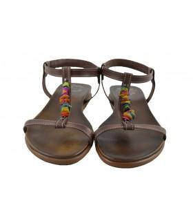 Sandalias piedras colores PORRONET
