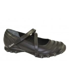 Bailarinas velcro relaxed fit negras SKECHERS