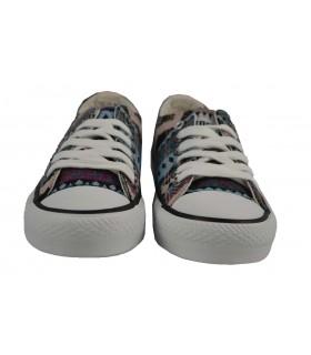 Zapatillas deportivas bajas print MUSTANG - Rosa