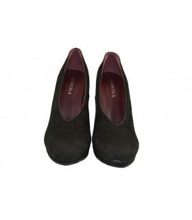 Zapatos tacón antelina botier D'ANGELA (1)