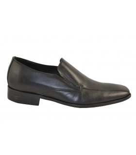 Mocasines piel colorado negra TOHERS (1)