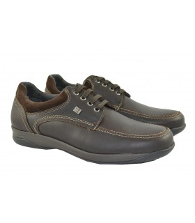 Zapatos cordones engrasados brown NUPER BY BAERCHI