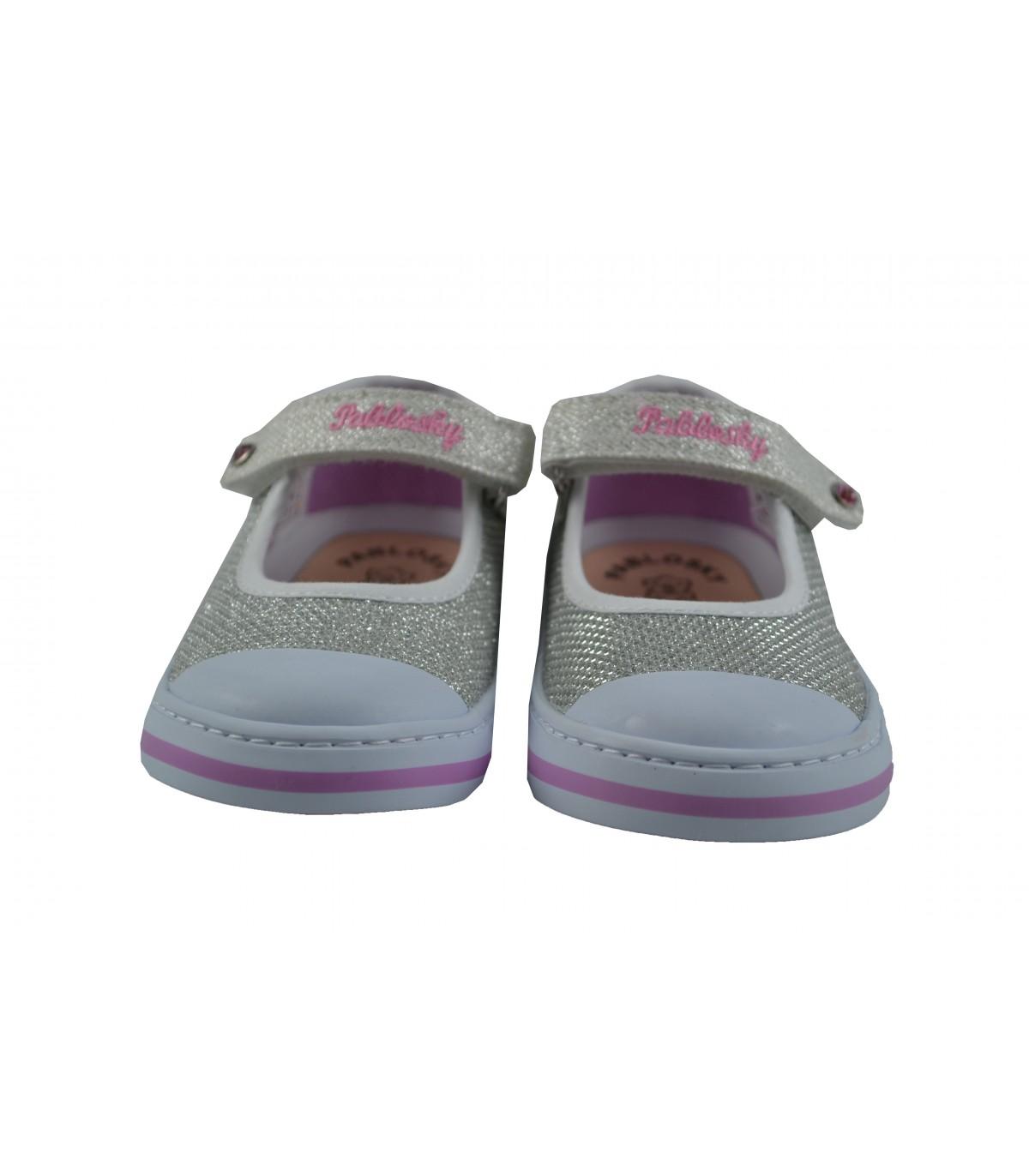 8b32ecb08d0 Merceditas PABLOSKY lona glitter | Zapatos Online | Calzado Niña