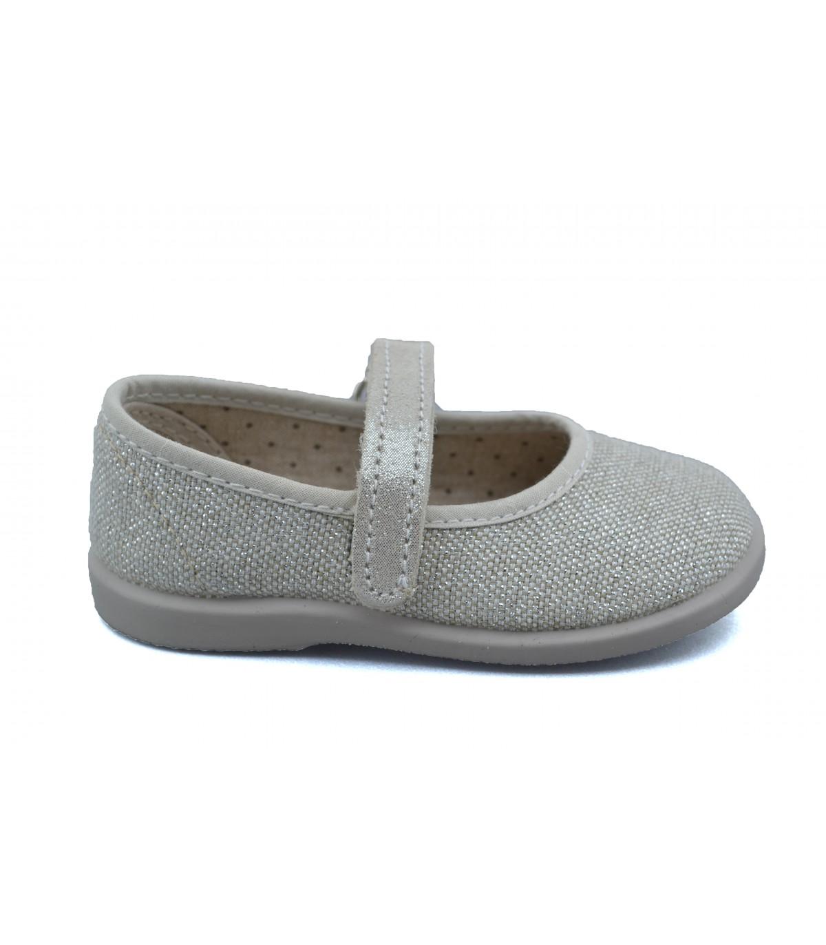 cf3c488c99 Merceditas niña VULLADI Lino | Zapatos Online | Calzado Niña